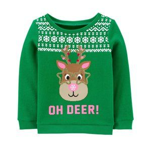 Baby Girl Chrostmas Holiday Sweatshirt Pullover